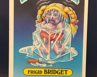 Frigid Bridget Garbage Pail Kids large card vintage rare