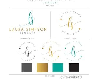 Gold Logo, Logo Design, Premade Logo, Logo, Gold Logo Design , Watercolor Logo, Watermark Logo, Photography Logo, Stamp Logo, Branding Kit