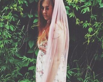 CANDY PINK   Bright pink wedding veil, fingertip veil, colored veil, bridal veil, bachelorette veil