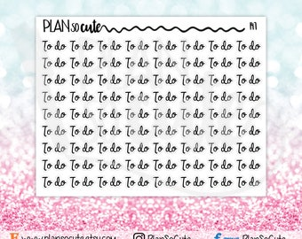 To Do Script Word Planner Stickers, Functional planner stickers -147