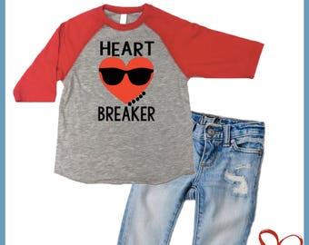boys valentine shirt heart breaker valentines day tee shirts cute tshirt for parties - Boys Valentines Shirt