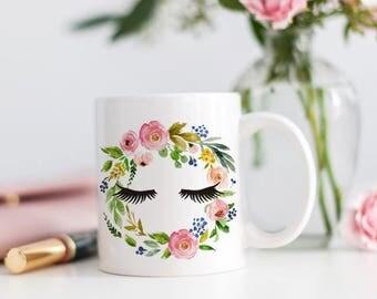 Eyelash Mug - Makeup Addict Gift - Makeup Brush Holder - Brush Holders - Eyelashes Mug - Make Up Organizer - Brush Cup - Eyelash Decor