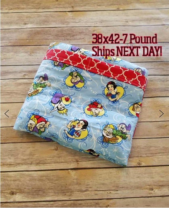 Princess, 7 Pound, WEIGHTED BLANKET, Ready To Ship, 7 pounds, 38x42, for Autism, Sensory, ADHD, Calming