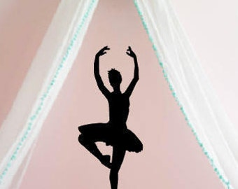 Ballerina Wall Decal - Ballet Wall Decal - Ballet Sticker- Wall Decor - Dance Wall Decor