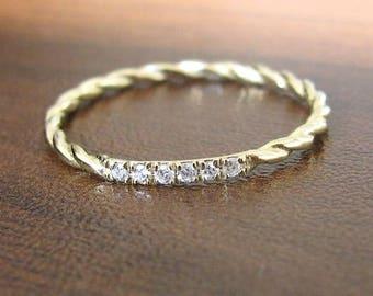 Simple wedding ring etsy simple wedding ring diamond simple engagement ring wedding band ring diamond anniversary ring junglespirit Image collections