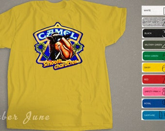 Inspired  Joe Camel Smooth Charactor, Vintage Retro Style T-shirt, Multiple Color Option,