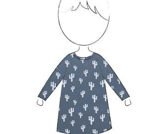 A Line Cactus Jersey Dress Tunic Organic