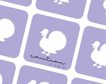 Turkey Nail Vinyls - Nail Stencil for Nail Art