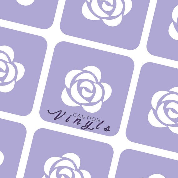 rose nail vinyl nail stencil for nail art. Black Bedroom Furniture Sets. Home Design Ideas