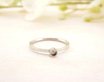 Stainless Steel Bezel Cup Ring 2.9mm -- Bezel Ring - Bezel Ring Setting - Stainless Steel Ring Blank - cabochon ring