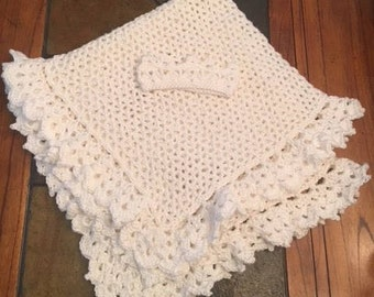 Lacy baby blanket