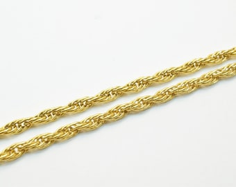 """18K Gold Filled Chain 17.25"""" Inch Long 3mm Width CG5"""