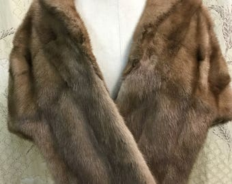 Beautiful Vintage Mink Stole, Mink Cape