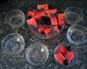 Arcoroc Fruit Bowl w/6 Serving Bowls