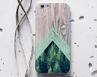 Geometry Wood Case Forest Case iPhone 6 Plus Case Phone Case iPhone 5 Case Samsung Note 5 Case Galaxy S7 Edge iPhone 6s Case LG G5 Case 173