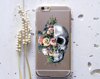 Skull iPhone 7 Case Floral iPhone 8 Case for Samsung Case for Samsung S8 Case for Samsung S8 Plus Case Skull Phone Case iPhone 6s WC1260