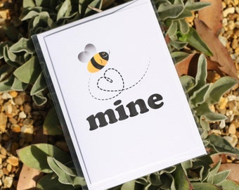 Bee Mine - greeting cards- Love - Be mine