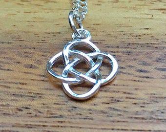 Sterling Silver Celtic Pendant Celtic Knot Necklace Celtic Jewellery Silver Necklace 925 Pendant 925 Jewellery Birthday Gift For Her STSP22