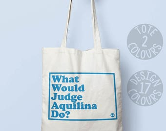 Judge Rosemarie Aquilina, reusable cotton tote bag, feminist bag, activist gift, hero for girls, gymnastics bag, do your magnificent things