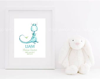 Personalized Name print, Baby name print, Baby arrival, Birth Stats, Personalized nursery art, Baby name nursery decor, Personalized art