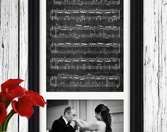 Father of the bride gift - father gift from daughter - Father Daughter Dance - father gift wedding - Wedding photo art  wedding photo framed