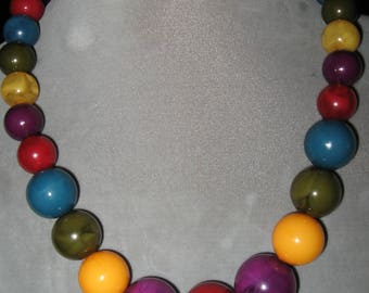 Fabulous Large Colorful Beaded Necklace