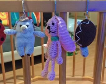 Llavero mini animal crochet