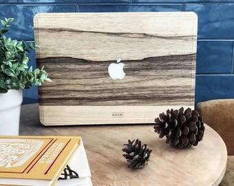 Macbook Wood Case for Mac Air Pro 11 12 13 15 in - Black Frake - Wood Mac book Case - Mac Skin - Mac Sticker - Mac Cover - Mac Case - Decal