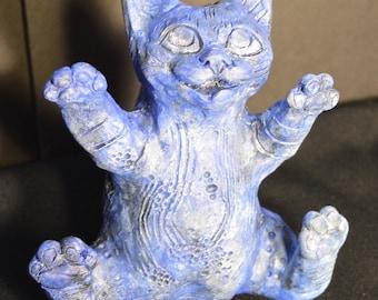 Ceramic kitten sculpture