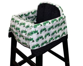 Tractor High Chair Cover Restaurant Use Green Black