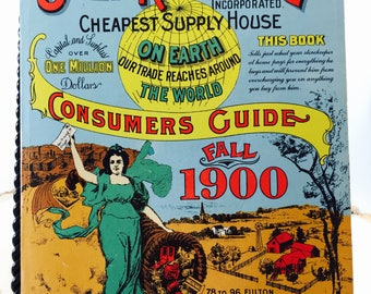 Sears,Roebuck and Co. Consumers Guide Fall 1900,Reprinted 1970 DBI Books,Vintage Supply Book, Sears Store Catalog