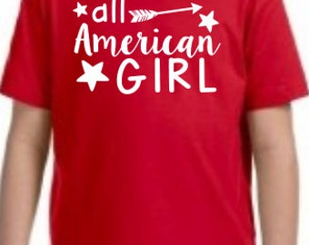 All American Girl -  YOUTH Tees/Raglans - Made to Order