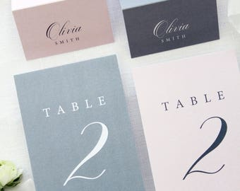 Isla Flower Table Numbers, Wedding Table Numbers, Printable Table Numbers, Printed Table Numbers, Grey and Blush Table Numbers