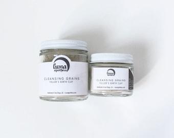 Cleansing Grains | Fuller's Earth Clay | Facial Cleanser | Soap-free Cleanser | Oily Skin Cleanser | Clay Cleanser | Vegan Skincare |