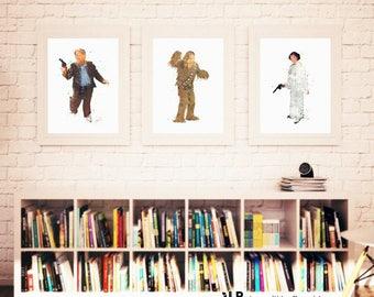 Tinjilla Art A4 Print STAR WARS HAN SOLO
