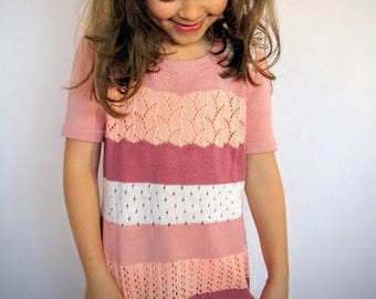 ROSA-DU Knitted dress in 100% cotton