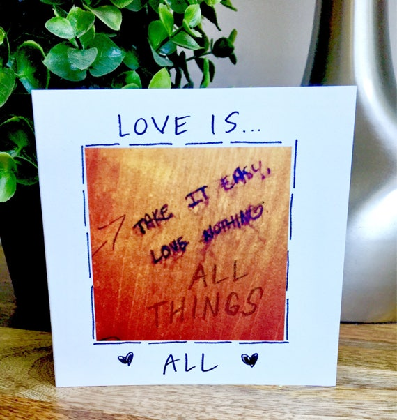 Love card, love is all, choose love, handmade love note, Cute love card