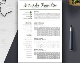 professional resume template word cv template cover letter creative modern teacher resume design