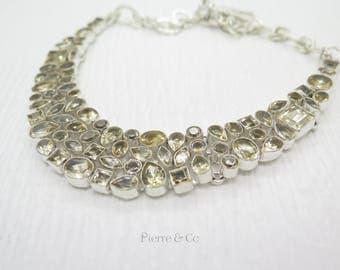 Petite Sparkling Citrine Sterling Silver Necklace