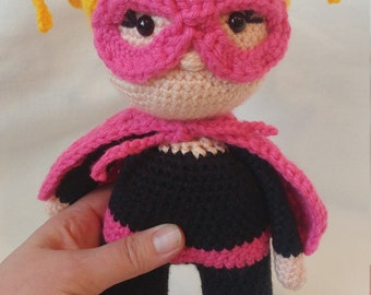 "Crochet Superhero Doll-""Shine"""