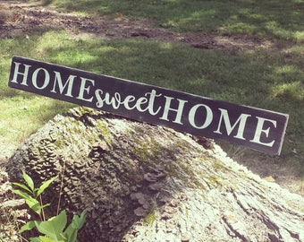 FLASH SALE-Home Sweet Home Sign-wood sign-rustic decor-distressed wood-farmhouse style-home and living-porch-distressed wood sign