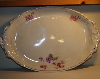 Very Rare Antique Warwick Serving Platter - Antique - 1890s - Warwick China - Serving Platter