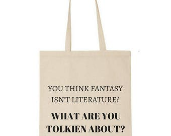 Lord of the Rings tote bag - Tolkien quote - Fantasy - bookish - market bag - book lover - gift for book lover