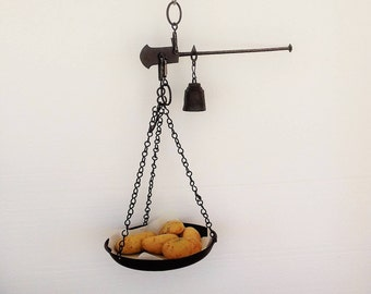 Antique Roman Scales Complete with Original Weighing Pan