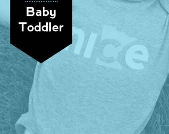 Baby + Toddler Set, FREE SHIPPING - Nice Minnesota Shirt, State Shirt, Minnesota Shirt, Minnesota T-shirt, Kids t-shirt