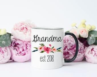 Grandma to be Mug, Grandma to be Gifts, Grandma Mug, Grandma Gifts, pregnancy announcement grandparents, pregnancy reveal to grandparents