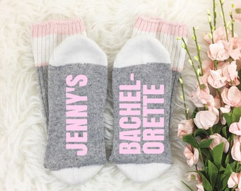 Bachelorette Socks, If You Can Read This Bring Me Wine Socks, Personalized Socks, Bachelorette Party Favor, Photography Prop