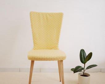 Wax chair / Yellow  wax vintage chair / african ethnic wax