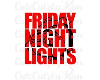 Football svg, bulldog svg, friday night lights svg