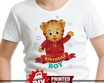 DIY Printable Daniel Tiger Iron On Transfer, Birthday Girl, Daniel Tiger Party, Daniel Tiger Birthday, Daniel Tiger T-shirt